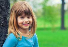 Happy girl having fun in the park Royalty Free Stock Images