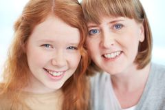 Happy girl and her mum Royalty Free Stock Image