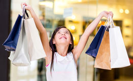 Happy girl with arms open Stock Image