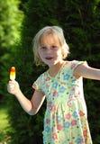 Happy girl with ice cream Royalty Free Stock Photos