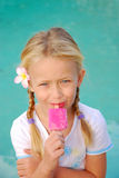 Happy girl with ice lolly Stock Photo