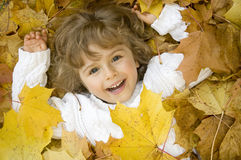 Free Happy Girl In Autumn Leaves Royalty Free Stock Photos - 6690978
