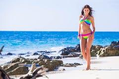 Free Happy Girl In Bikini At Seaside Stock Images - 128231464