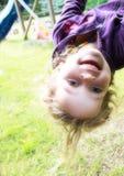 Happy Girl In Playground Stock Photos