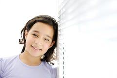 Happy girl indoor Stock Photography