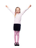 Happy Girl isolated on white Stock Photos