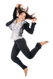 Happy girl jump Royalty Free Stock Images