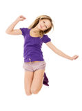 Happy girl jumps Royalty Free Stock Images
