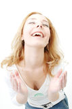 Happy girl laughing Royalty Free Stock Photography