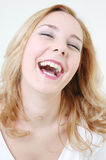 Happy girl laughing Royalty Free Stock Images