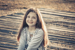 Happy girl 2017 Royalty Free Stock Photo