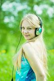 Happy girl listening music Royalty Free Stock Photo