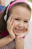Happy Girl Listening To Music Royalty Free Stock Photos