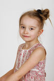 Happy girl. Happy little girl in the studio Royalty Free Stock Image