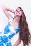 Happy girl with long hair Royalty Free Stock Photography