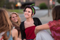 Happy Girl Looking Away Stock Photography