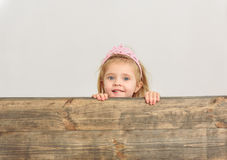 Happy girl looking at something interesting Royalty Free Stock Photography