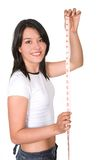 Happy girl - losing weight series Royalty Free Stock Image