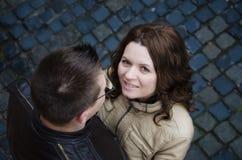 Happy girl in love Stock Photography