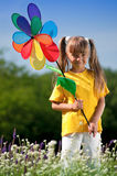 Happy  girl on meadow Royalty Free Stock Photography
