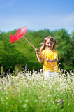 Happy girl on meadow Stock Photography