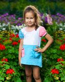 Happy girl on the meadow Stock Image