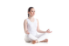 Happy girl meditating Stock Photography