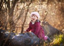 Happy girl outdoog Stock Image