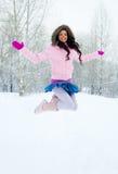 Happy girl outdoor Stock Photos