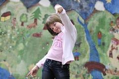 Happy girl outdoor Stock Images