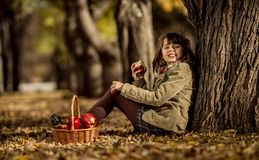 Happy girl outdoor Royalty Free Stock Images