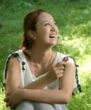 Happy girl in the outdoor Stock Image