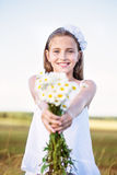 Happy girl outdoor Royalty Free Stock Image