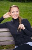 Happy girl outdoors Stock Photography