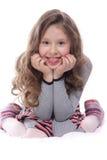 Happy girl over white Stock Photo