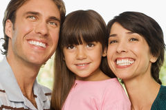 Happy girl and parents Royalty Free Stock Photography