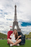 Happy girl in Paris Royalty Free Stock Photos