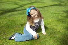 Happy girl in the park Stock Image