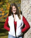 Happy girl in park Stock Image