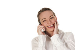 Happy girl on the phone Royalty Free Stock Photo