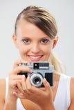 Happy Girl photographer Royalty Free Stock Photography