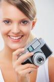 Happy Girl photographer Stock Photo