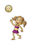 Happy girl playing with a Ball Royalty Free Stock Image