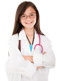 Happy girl playing doctor Stock Images
