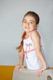 Happy girl playing in kindergarten Stock Images