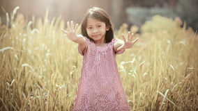 Happy Girl Playing Outdoor Royalty Free Stock Image