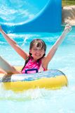 Happy girl in pool Royalty Free Stock Photos