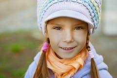 Happy girl-preschooler Stock Images
