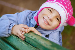 Happy girl-preschooler Royalty Free Stock Photography