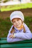 Happy girl-preschooler Stock Photo